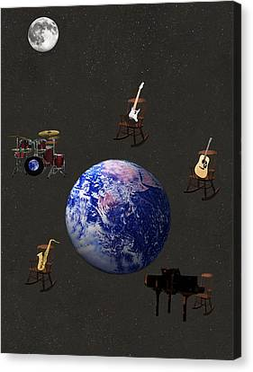 Rocking Chairs Canvas Print - Rocking All Over  The World by Eric Kempson