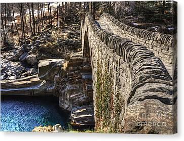 Roman Bridge Canvas Print by Mats Silvan
