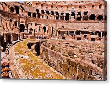 Roman Coliseum  Canvas Print by Jon Berghoff