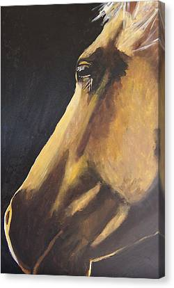 Canvas Print featuring the painting Roman by Krista Ouellette