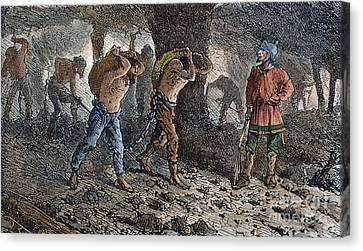 Roman Slavery: Coal Mine Canvas Print by Granger
