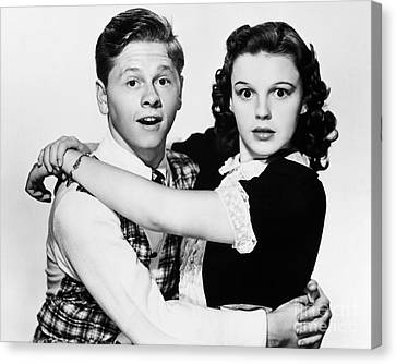 Rooney And Garland, 1938 Canvas Print by Granger