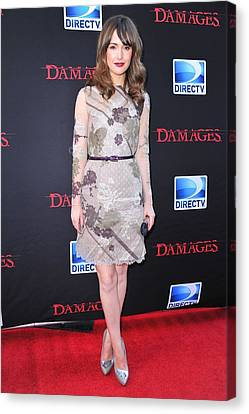 Rose Byrne Wearing A Valentino Dress Canvas Print