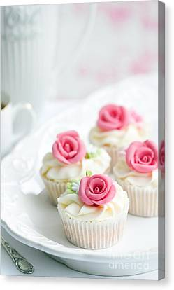 Rose Cupcakes Canvas Print by Ruth Black