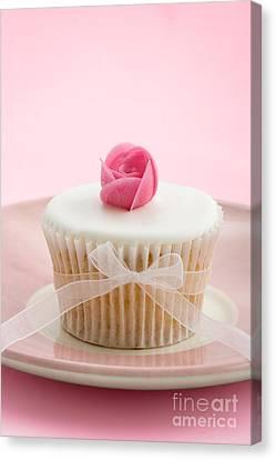 Tea Party Canvas Print - Rosebud Cupcake by Ruth Black