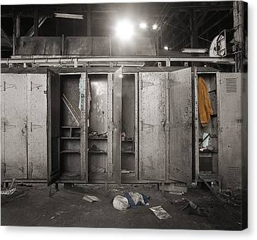 Roundhouse Lockers Canvas Print by Jan W Faul
