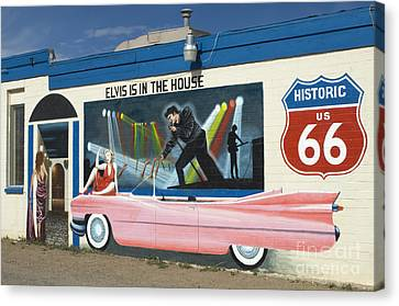 Route 66 Elvis Canvas Print by Bob Christopher