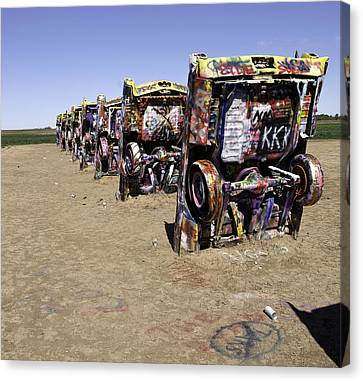 Canvas Print featuring the photograph Rt 66 Cadillac Ranch by Paul Plaine