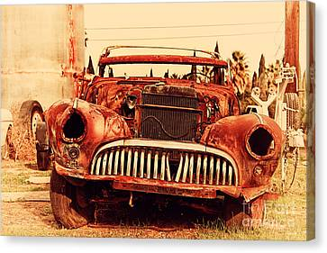 Rusty Old American Car . 7d10343 Canvas Print by Wingsdomain Art and Photography