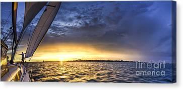 Sailing Sunset Charleston Sc Canvas Print