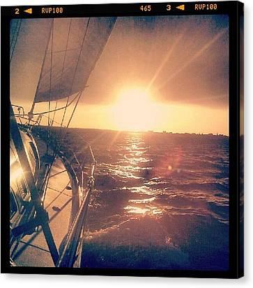 Sunset Canvas Print - Sailing Sunset by Dustin K Ryan