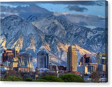 Salt Lake City Utah Usa Canvas Print by Utah Images