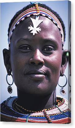 Samburu Maiden In Kenya Canvas Print