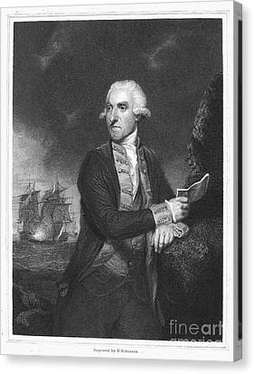 Samuel Hood (1724-1816) Canvas Print by Granger