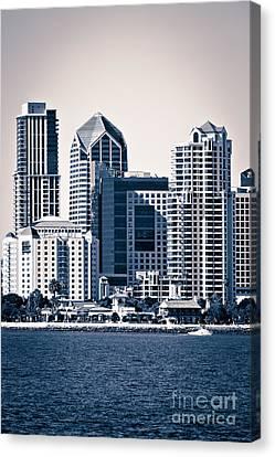 San Diego Skyline Canvas Print by Paul Velgos