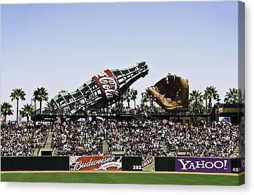 San Francisco Giants Baseball Park Canvas Print by Paul Plaine