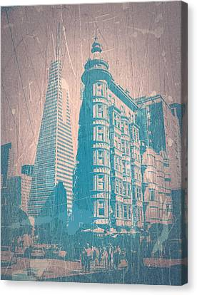 Bay Area Canvas Print - San Fransisco by Naxart Studio