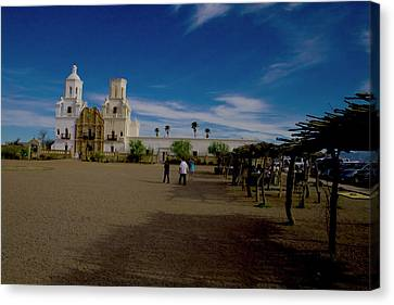 Canvas Print featuring the photograph San Xavier Del Bac Mission by Tom Singleton