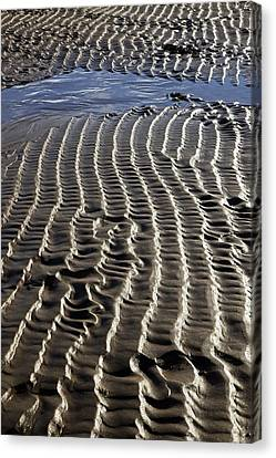 Sand Ripples At Low Tide Canvas Print by Dr Keith Wheeler