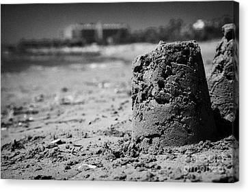 Larnaca Canvas Print - Sandcastles On Cyprus Tourist Organisation Municipal Beach In Larnaca Bay Republic Of Cyprus Europe by Joe Fox