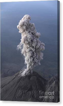 Santiaguito Ash Eruption, Guatemala Canvas Print by Martin Rietze
