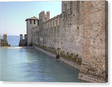 Scaliger Castle Wall Of Sirmione In Lake Garda Canvas Print by Joana Kruse