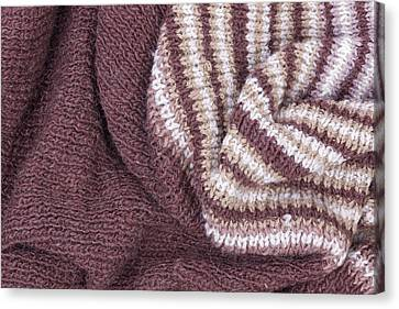 Scarf From Wool Manual Are Viscous Canvas Print by Aleksandr Volkov