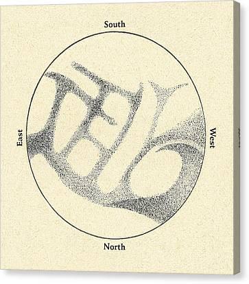 Schiaparelli's Observations Of Mercury Canvas Print