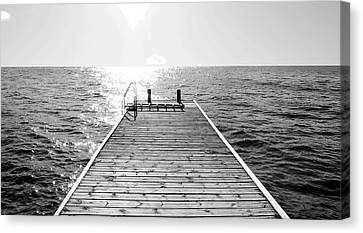 Sea Jetty Canvas Print by Smallfort Photography Collection