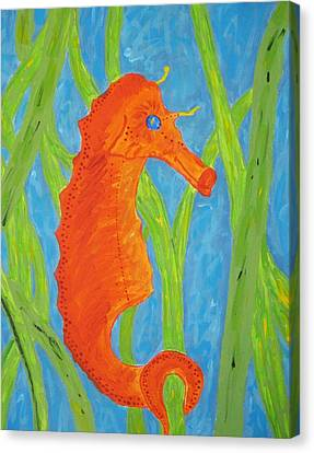 Seahorse Canvas Print by Yshua The Painter