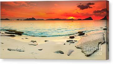 Seascape Panorama Canvas Print by MotHaiBaPhoto Prints