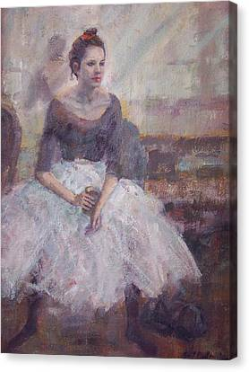 Seated Ballerina Canvas Print