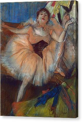 Cardboard Canvas Print - Seated Dancer by Edgar Degas