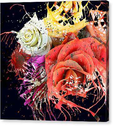 Seeds Of Splatter Canvas Print by Empty Wall