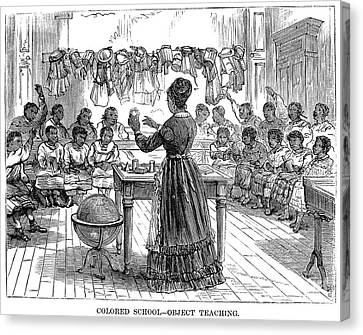 Segregated School, 1870 Canvas Print by Granger