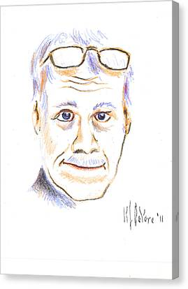 Self-portrait Canvas Print by Kip DeVore