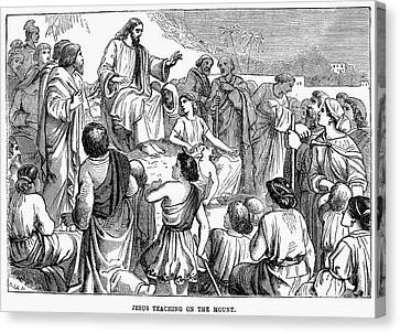 Sermon On The Mount Canvas Print by Granger