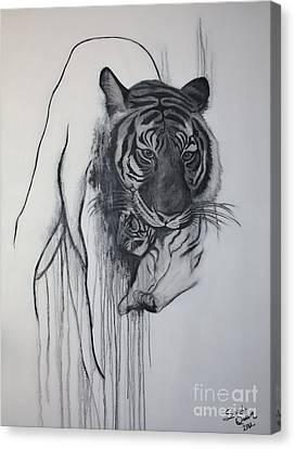 Shades Of Grey Canvas Print by Sandi Dawn McWilliams