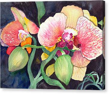 Canvas Print featuring the painting Shangri La by AnnE Dentler