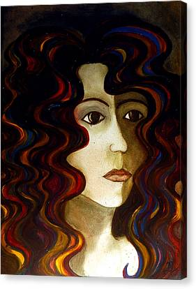 Canvas Print featuring the painting She by Monica Furlow