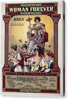 Sheet Music Cover, 1916 Canvas Print by Granger