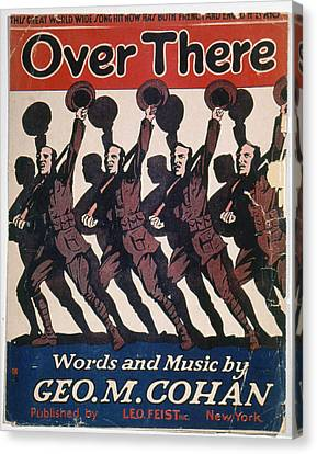 Sheet Music Cover, 1917 Canvas Print by Granger
