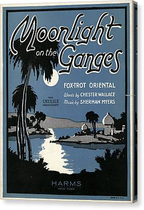 Sheet Music Cover, 1926 Canvas Print by Granger