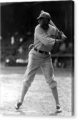 Shoeless Joe Jackson, Batting Practice Canvas Print by Everett