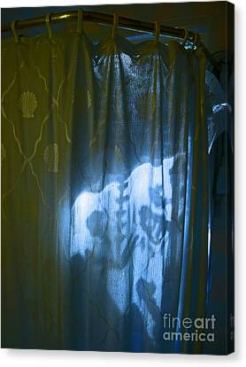 Shower Shadows Canvas Print by Beebe  Barksdale-Bruner