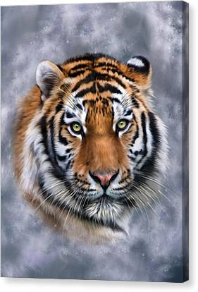 Tiger Canvas Print - Siberian Tiger by Julie L Hoddinott