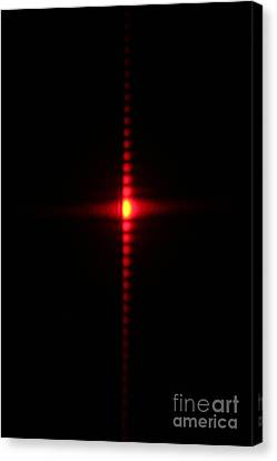 Single Slit Diffraction Canvas Print by Ted Kinsman