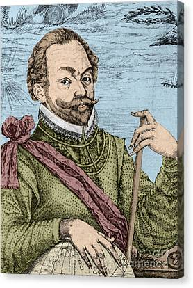 Sir Francis Drake, English Explorer Canvas Print by Photo Researchers, Inc.