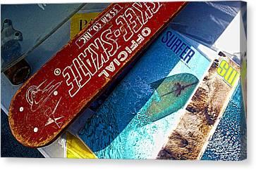 Skee Skate Canvas Print by Ron Regalado