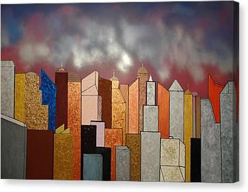 Skyscrapers Canvas Print by Robert Handler
